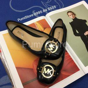 Michael Kors Fulton moc Black Gold buckle