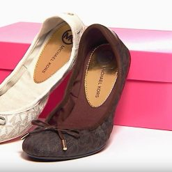 Giày Michael Kors Brown city ballet