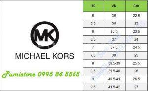 Michael Kors Size chart