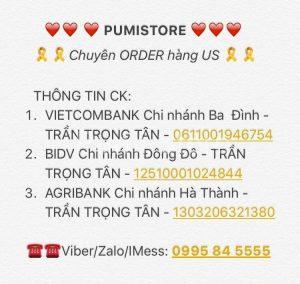 Thông tin chuyển khoản Pumi Store