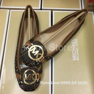 Giay Michael Kors Brown laser mini cut