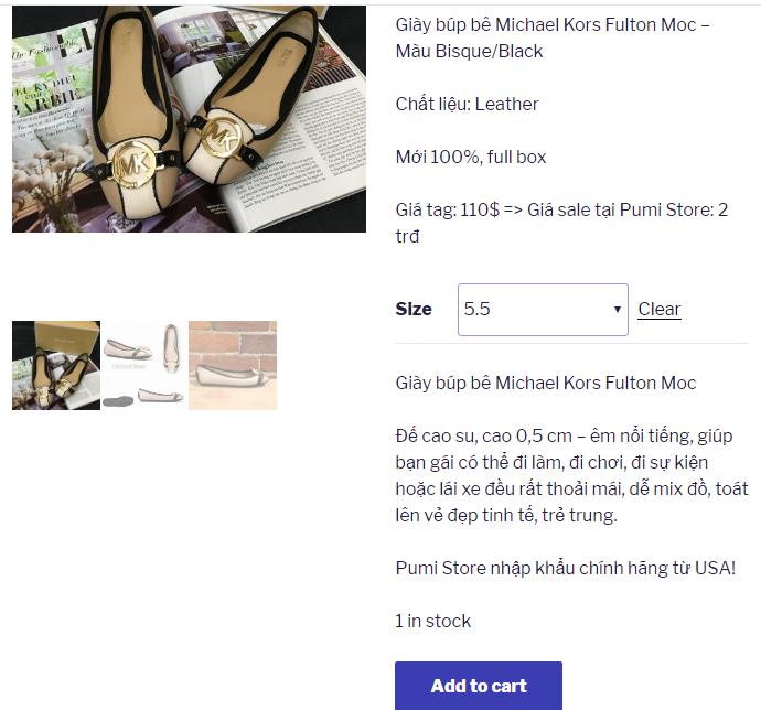 Pumi Store - Thanh toán thẻ tín dụng