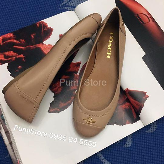Coach Chelsea Matte Calf Leather Patent Bechwood