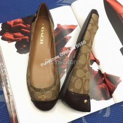 Coach Chelsea leather flat