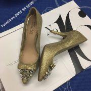 Giày Michael Kors Flex Mid Pump Gold Glitter