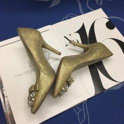 Giay Michael Kors Flex Mid Pump Gold Glitter