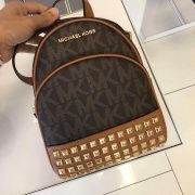 michael kors abbey backpack brown studded