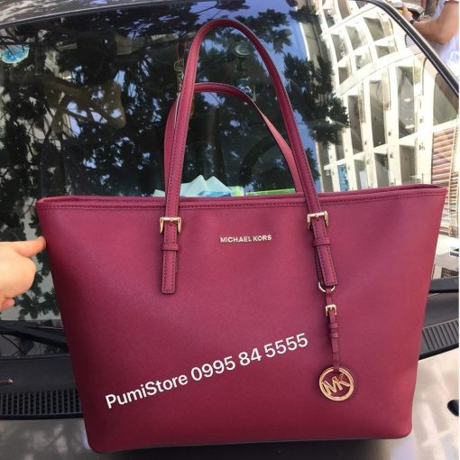 Tui Michael Kors Jet Set Travel Top Zip Tote Mulberry