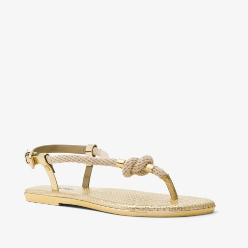 Giay Xang Đan Michael Kors Holly Rope - Trim Metallic Gold
