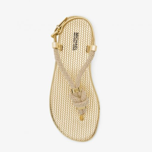 Giày Xăng Đan Michael Kors Holly Rope - Trim Metallic Gold