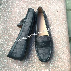 Giay Coach Loafer Odette Smoke Black