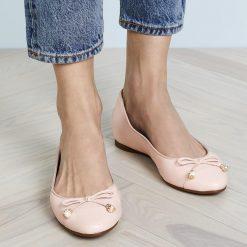 Giay Michael Kors Gia Ballet Soft Pink