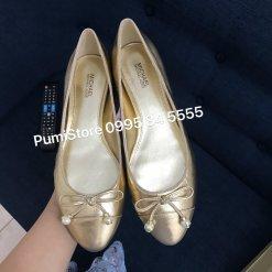 Giay Michael Kors Gia Ballet Pale Gold