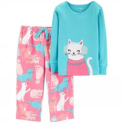 Pijama Carter Snow Kitty Turquoise Pink