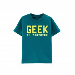 Ao phong tay ngan Be Trai Carter's Geek In Training Jersey Tee