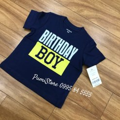 Carter's Birthday boy Jersey Tee Navy