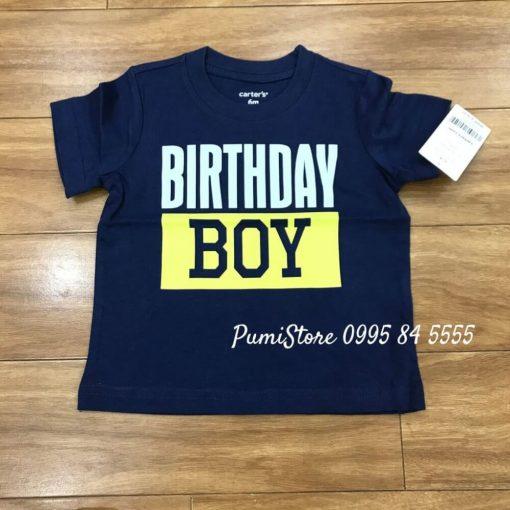 Carter's Birthday boy Jersey Tee Navy