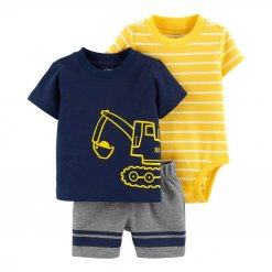 Carter bodysuit Striped Cotton Navy Yellow