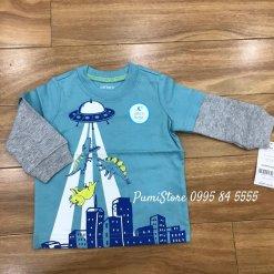 Ao dai tay Carter's be trai Dino & UFO Graphic Cotton T-Shirt