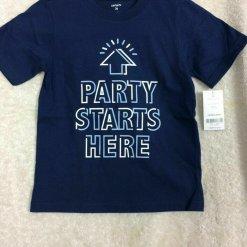 Ao phong Carter's Party Start Here Navy