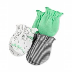 Set 3 bao tay be trai Carter's Printed Cotton Mittens