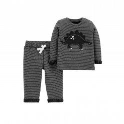 Set 2 Mon Be Trai Carter's Dino Graphic Shirt & Joggers