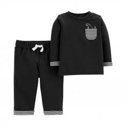 Carters, Baby Boys 2-Pc. Striped Dinosaur Top & Pants Set