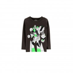 Ao thun dai tay be trai Oshkosh - Originals Graphic Tee_Grey, Black, Neon Green