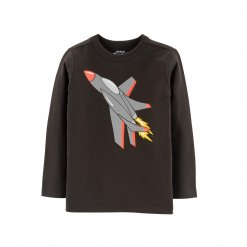 Ao thun dai tay be trai Oshkosh - Originals Graphic Tee_Grey, Orange, Yellow