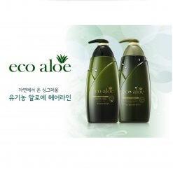 Set Dầu Gội + Xả Nha Đam Rosee Eco Aloe Hàn Quốc 760ml