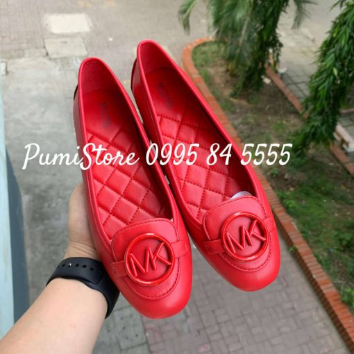 Giay Michael Kors Lillie Bright Red