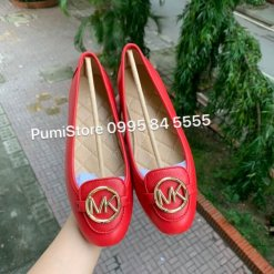 Giay Michael Kors Lillie Bright Red khoa vang