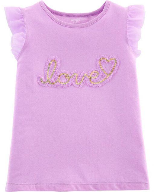 Áo phông Carter's Love Tulle-Sleeve
