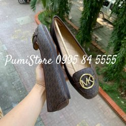 Giay Michael Kors Lillie Brown Logo