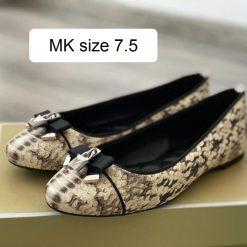 Giay Michael Kors Alice Ballet Natural Snake