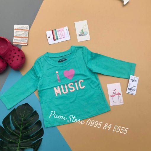 Ao thun dai tay Oshkosh Original Graphic Tee Aqua/Pink