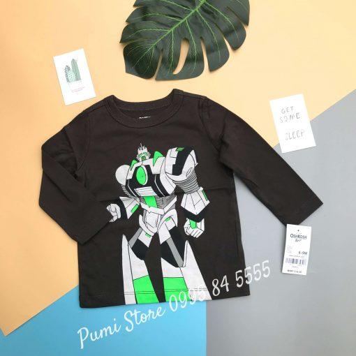 Oshkosh Originals Graphic Tee Grey Black, Neon Green