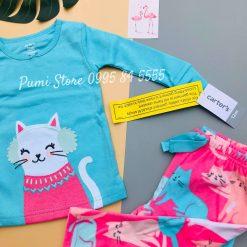Pijama Carter Snow Kitty Turquoise Pink