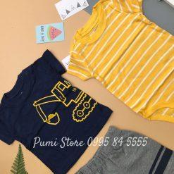 Set 3 Mon Be Trai Carter's Striped Cotton Navy Yellow