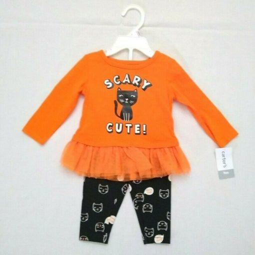 Set 2 mon Carter's Halloween Cat Top & Legging