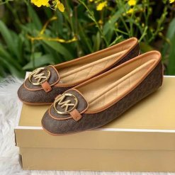 Giay Michael Kors Lillie Brown Accorn