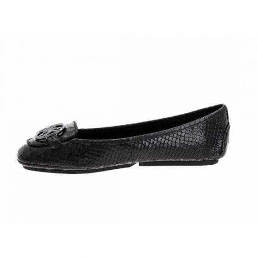 Giày Michael Kors Lillie Black Snake khóa đen